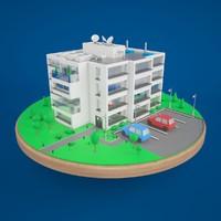 3d model stylized store
