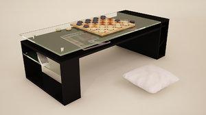 3d model pillows table