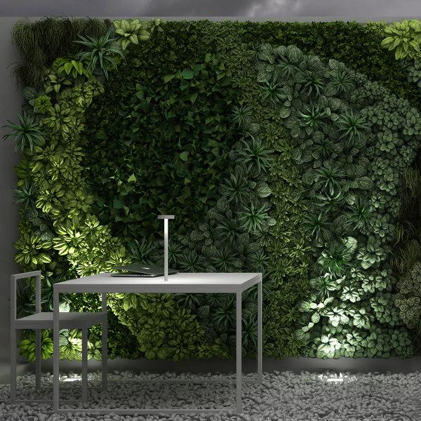 3d vertical garden