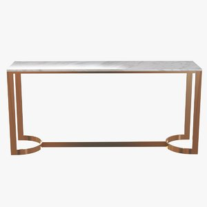 console bernhardt blanchard table 3d 3ds