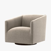 Restoration Hardware 1950S ITALIAN SHELTER ARM UPHOLSTERED SWIVEL CHAIR