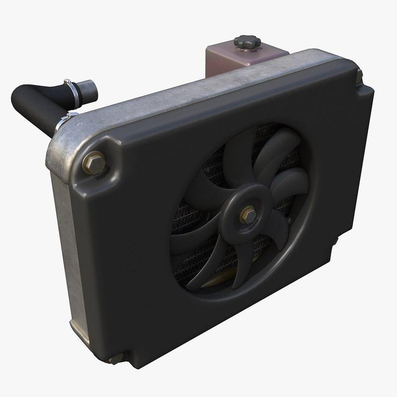 3d model car radiator