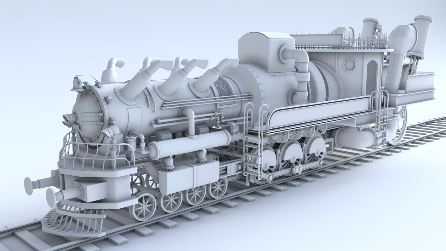 train steampunk 3d model