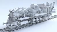 train steampunk 3d model