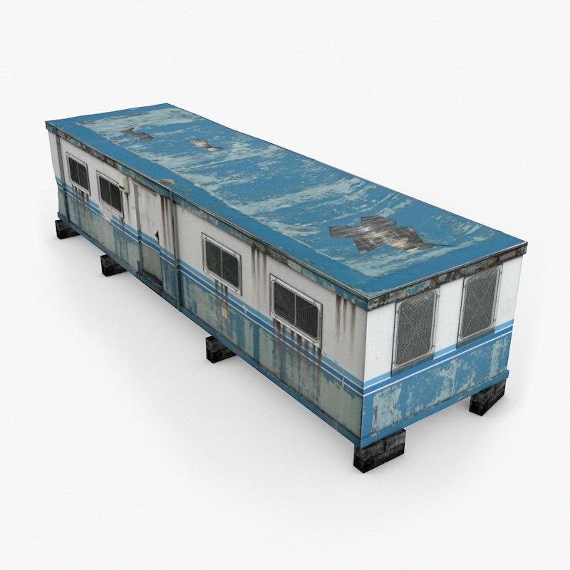 3d model portacabin games industrial