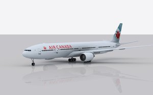 airplane boeing 777-300 er 3d c4d
