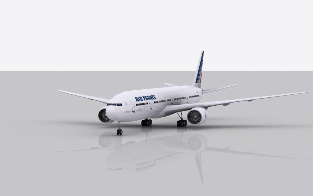 3d model airplane boeing 777-300 er