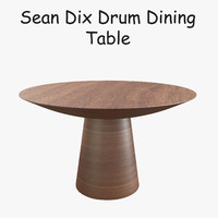 3d model sean dix drum dining table