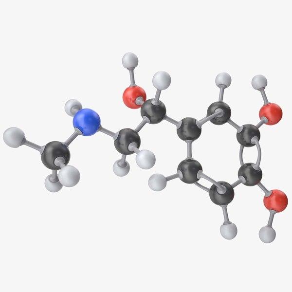 epinephrine molecule 3d model