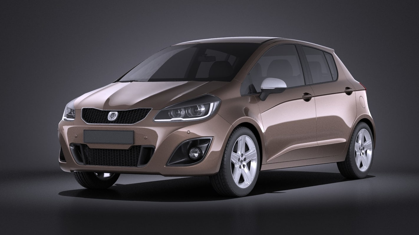 3d 2016 hatchback generic model