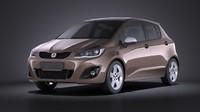 3d 2016 hatchback generic model