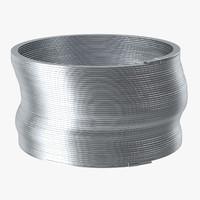 metal slinky 02 c4d