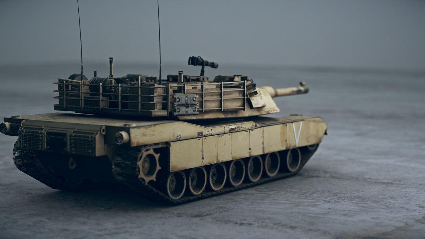 3d model american tank