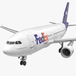3d model airbus a310-300 fedex