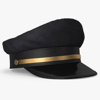 3d airline captains cap