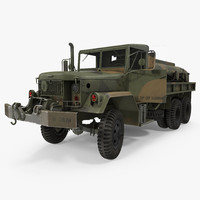 Fuel Tank Truck m49 Rigged 3D Model