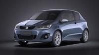 3d model 2016 hatchback generic