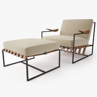 Annette Armchair and Ottoman by Jorge Zalszupin