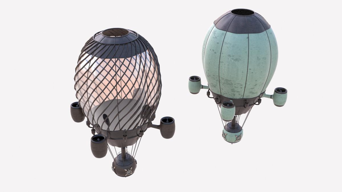 3d model hot air