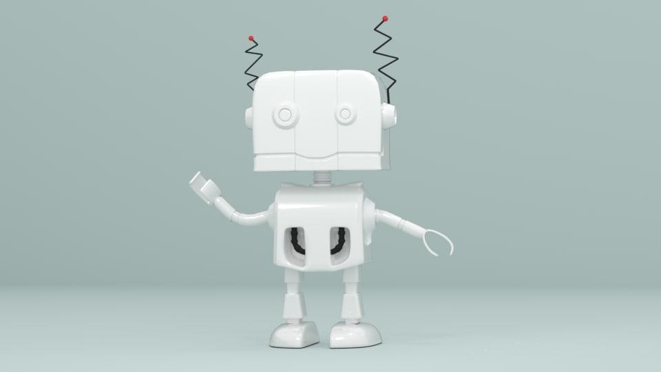 obj robot character