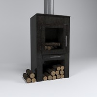 c4d fireplace stove