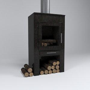 c4d fireplace stove