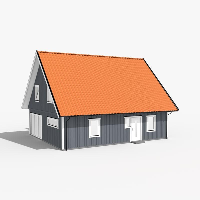 modern house obj