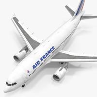 airbus a310-300 air france 3d model