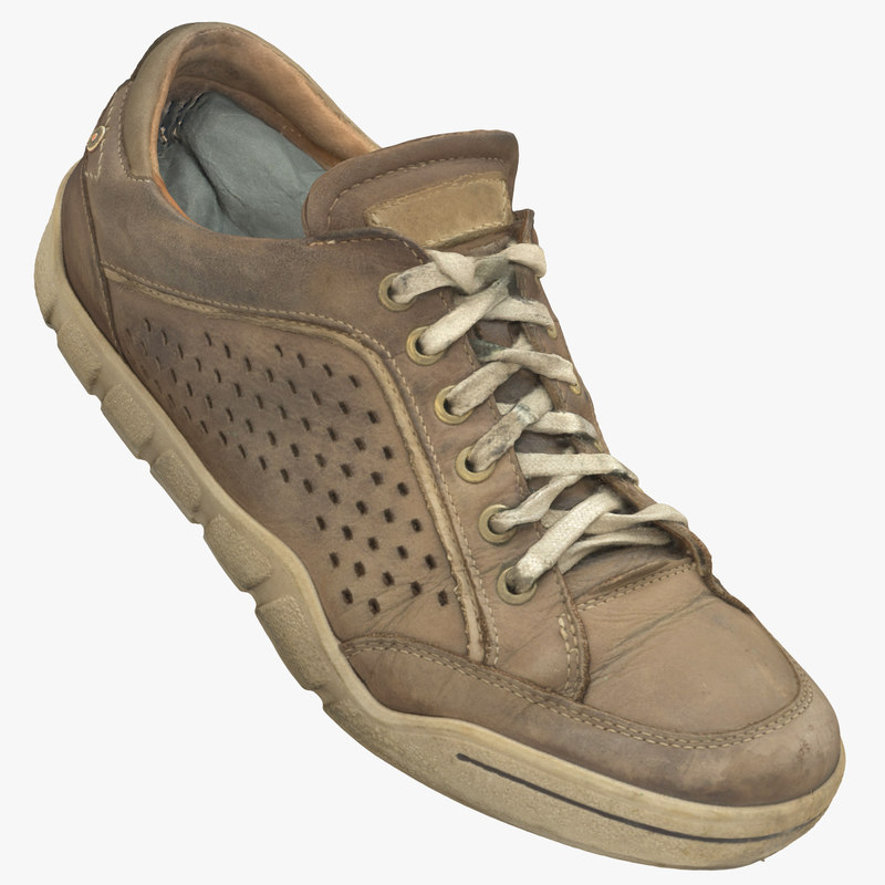 realistic ecco old sneakers 3ds