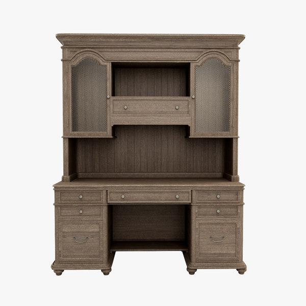 3d westgrove desk hutch