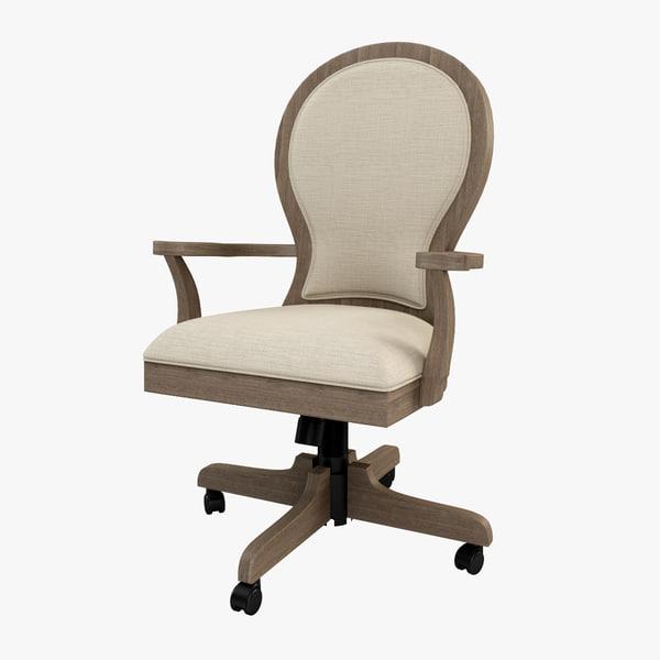 westgrove desk chair 3d model