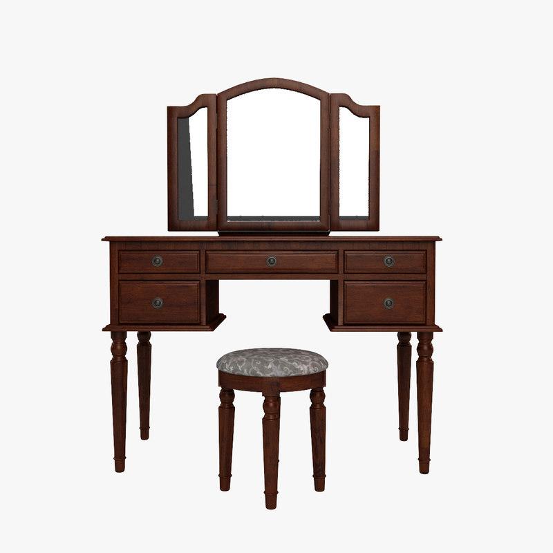 3d model of edgar vanity set