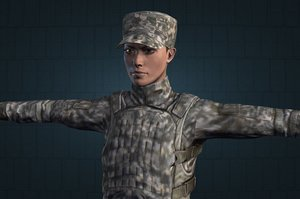 3d model of female soldier