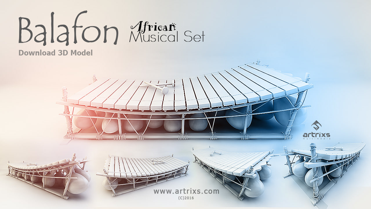 3d balafon percussion model