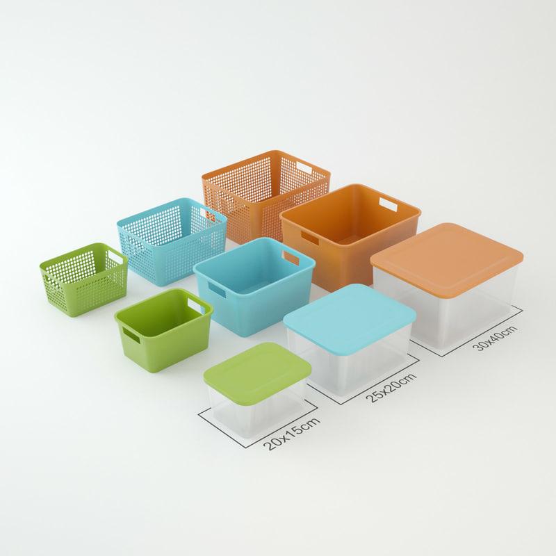plastic boxes 3d model