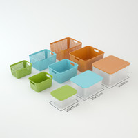 plastic boxes 3d model