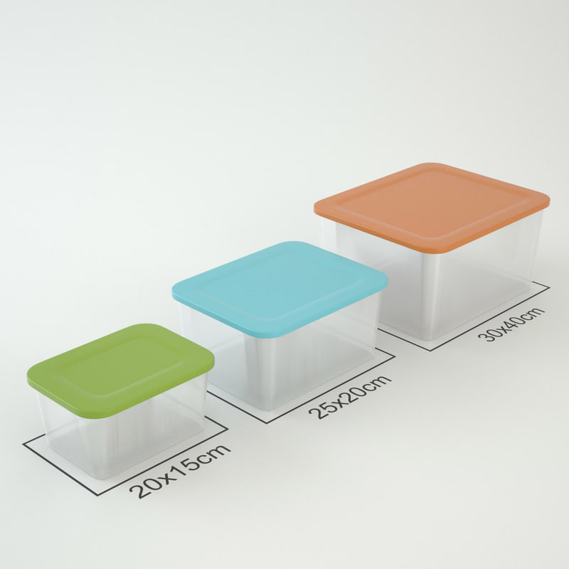 3d model plastic boxes