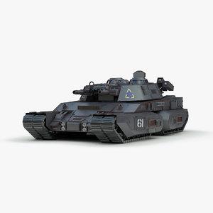 3d concept futuristic heavy tank