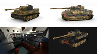 Fully built Panzer Tiger Tank Late 1944 v2 (interior and engine)