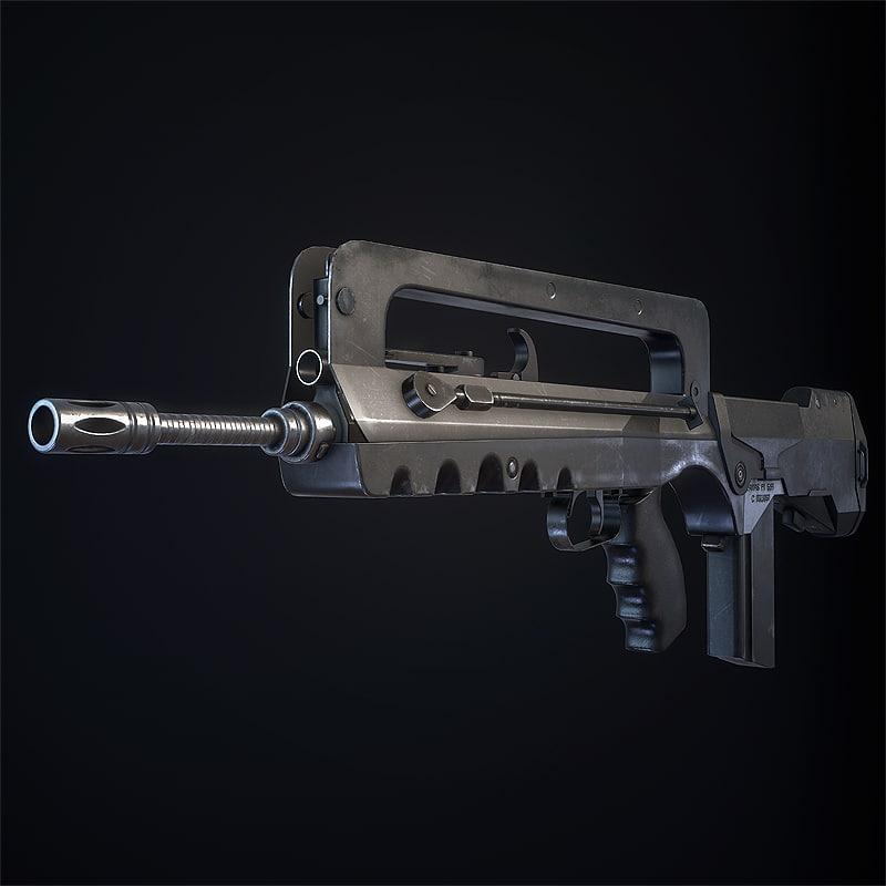 3d famas assault rifle model