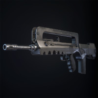 3d famas assault rifle model