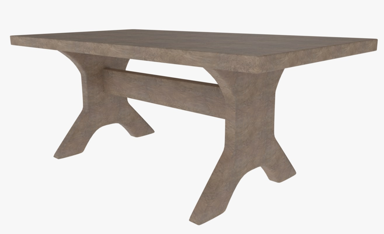 3ds table wood wooden