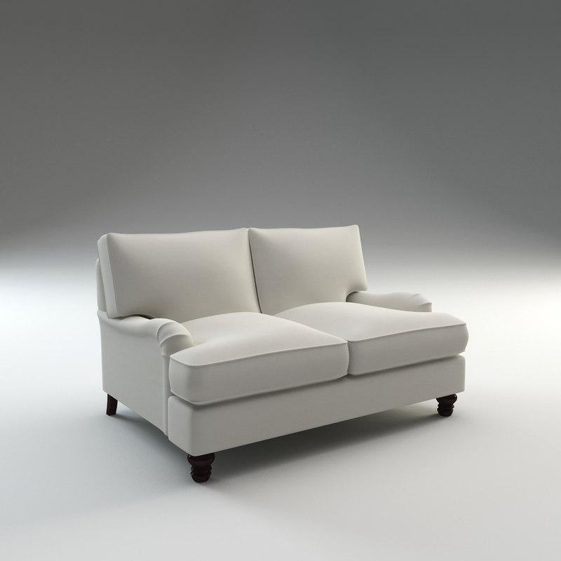 montgomery loveseat seat 3d model