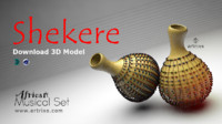 Shekere African Musical Instrument