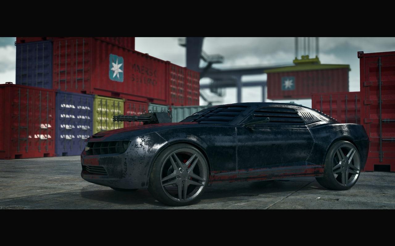 death race car chevrolet camaro 3d model