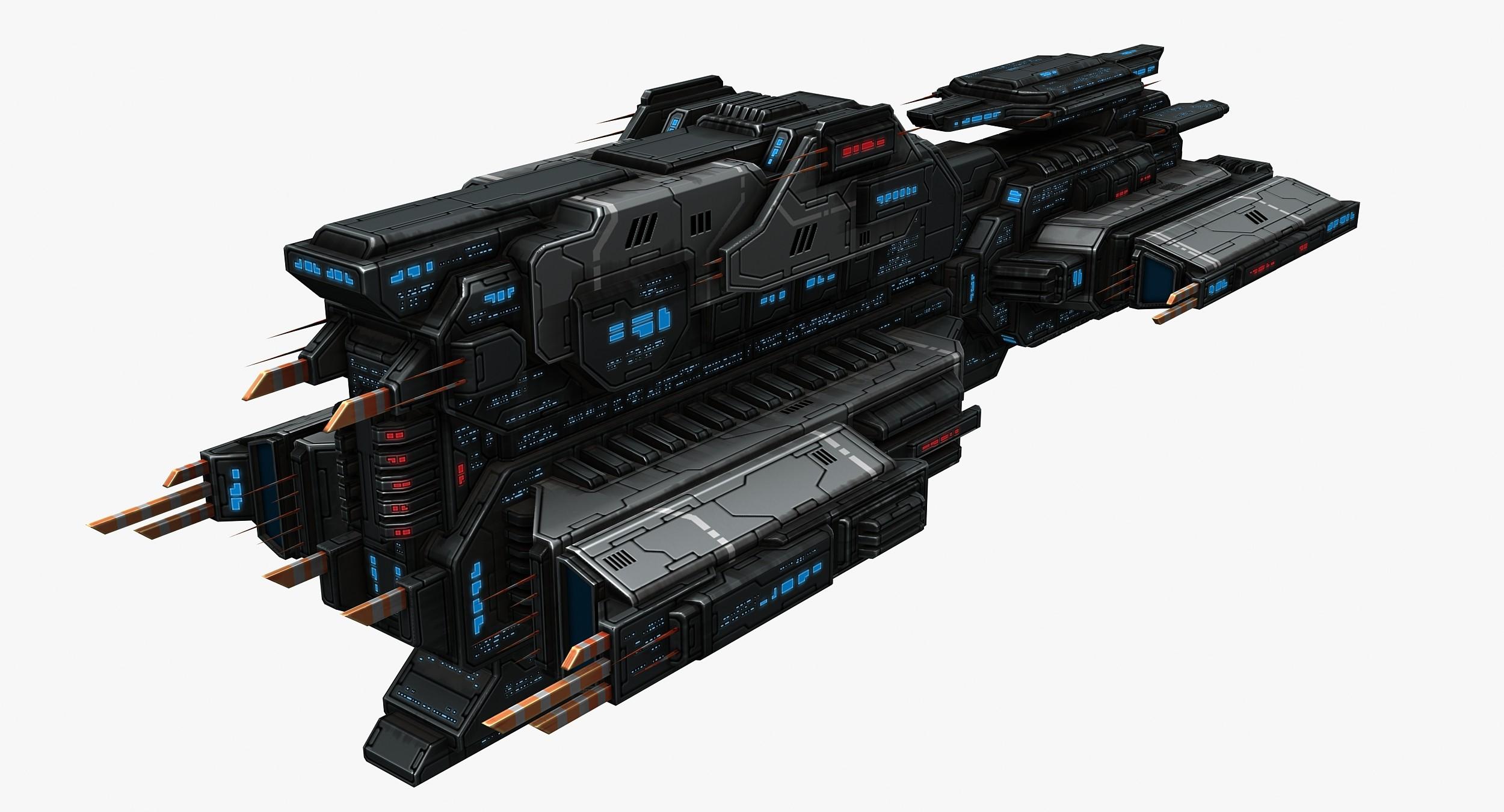 massive battleship ship model