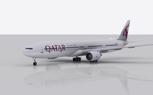 airplane boeing 777-300 er 3ds