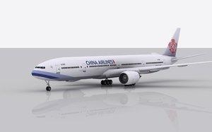 airplane boeing 777-300 er 3d model