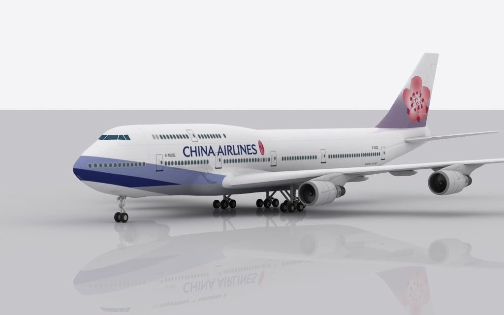 airplane boeing 747 china 3d 3ds
