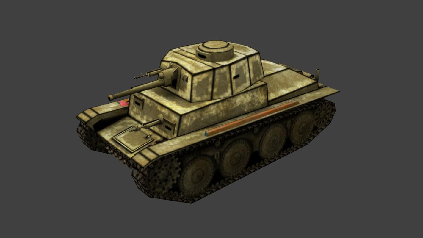 tank panzer pz kpfw 3d obj